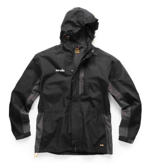 Scruffs worker jacket - Black/charcoal lightweight waterproof jacket
