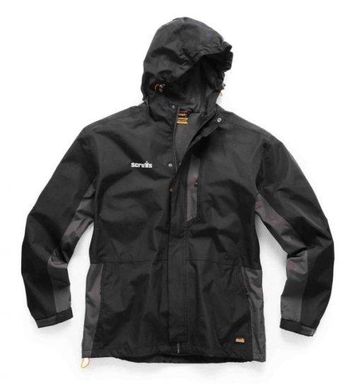 Scruffs worker jacket - Black/charcoal lightweight waterproof jacket