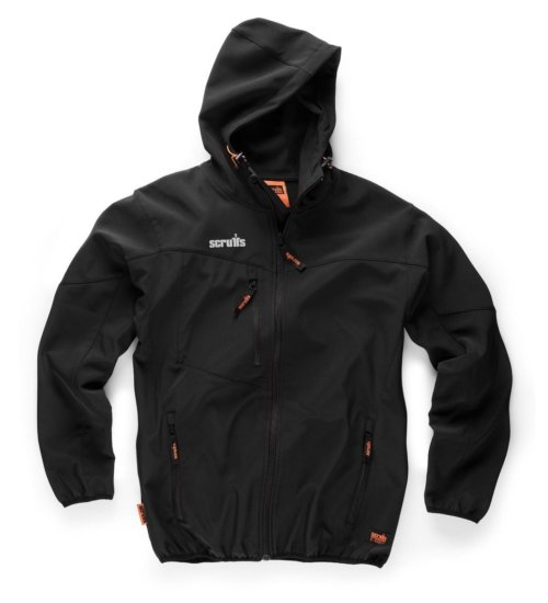 Scruffs worker softshell jacket - mid weight fleece lined working jacket