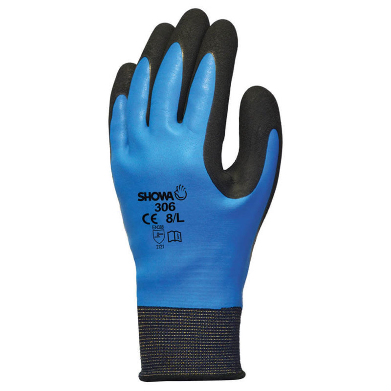 SHOWA 306 Latex Waterproof Work Gloves