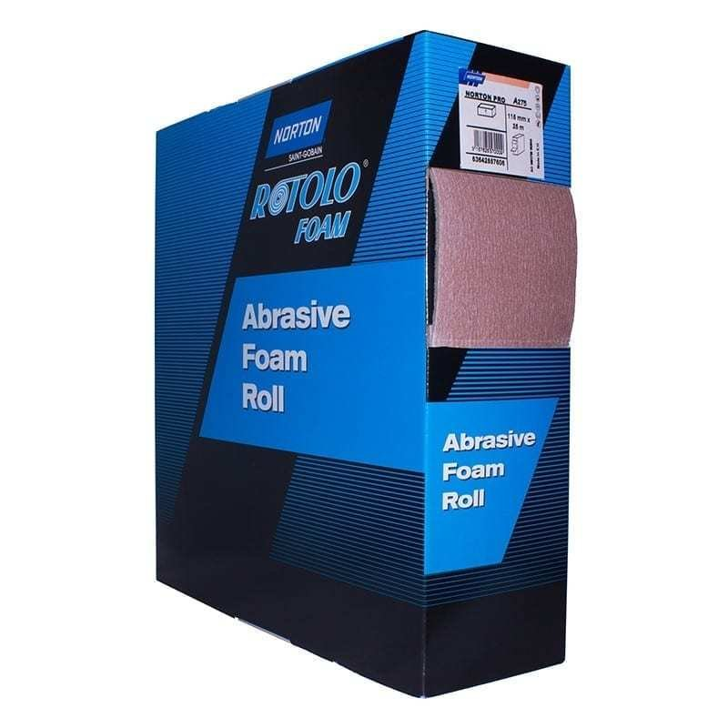 Norton Rotolofoam foam backed abrasive roll by Saint Gobain - 115mm x 25m