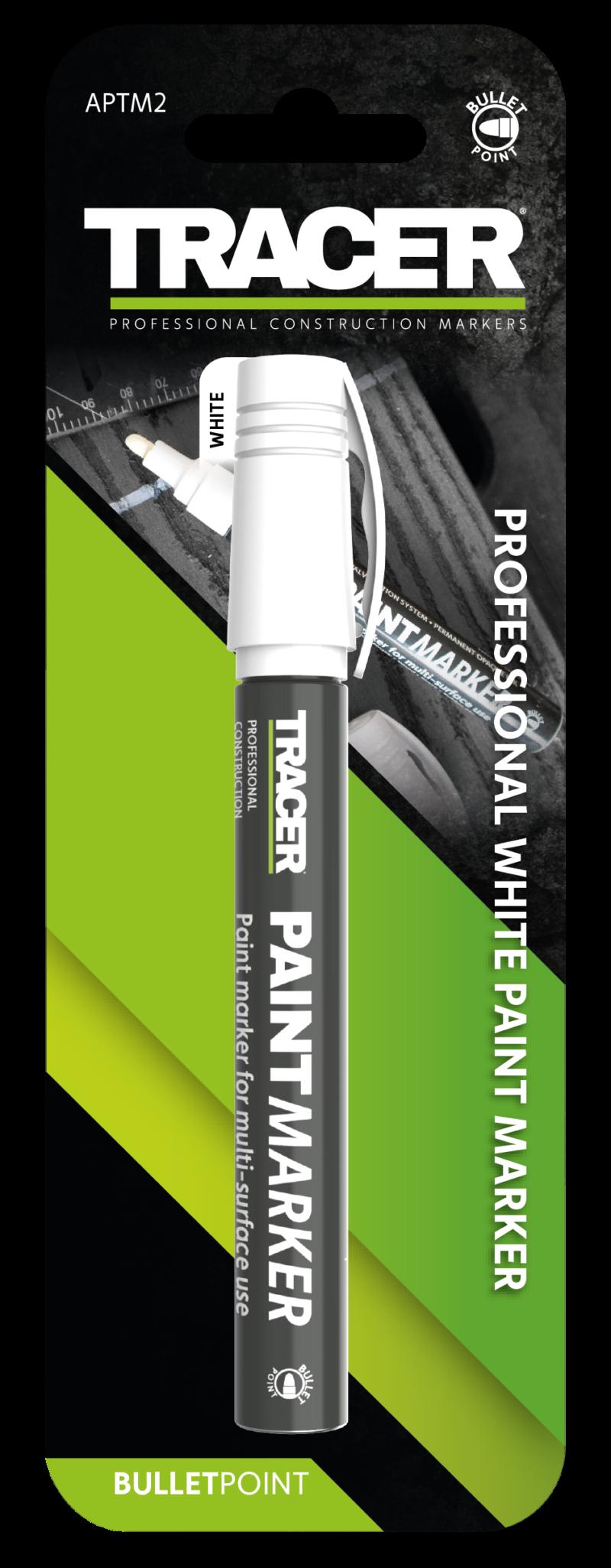 Tracer white paint marker 1 - 3mm bullet tipped marker